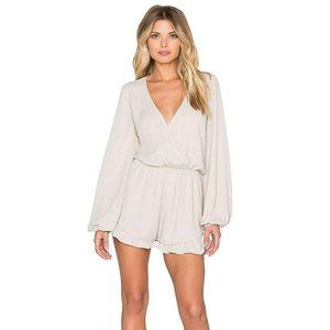 Show Me Your Mumu Rocky Romper in Sand Small